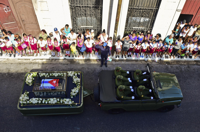 L'urne de l'ancien président Castro à Matanzas, le 30 novembre 2016.