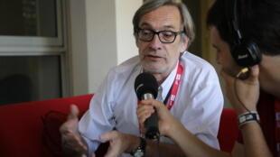Jean-François Leroy, en marge de la 31e édition du festival Visa pour l'image, à Perpignan le 4 septembre 2019.