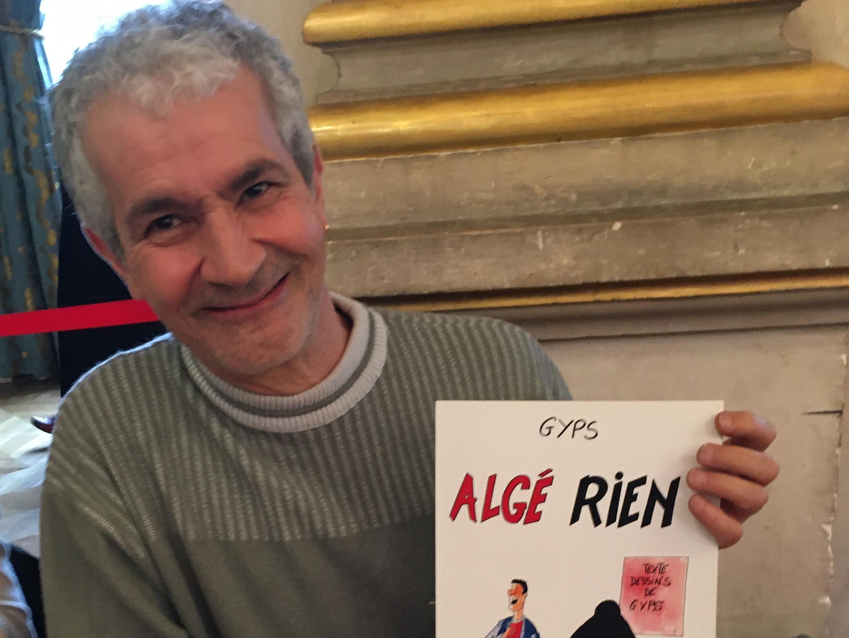 "GYPS et sa bande dessinée ""Algé-rien""."