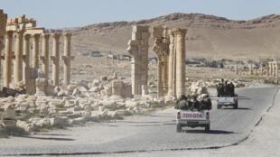 Uharibifu mkubwa uliofanywa katika mji wa Palmyre.