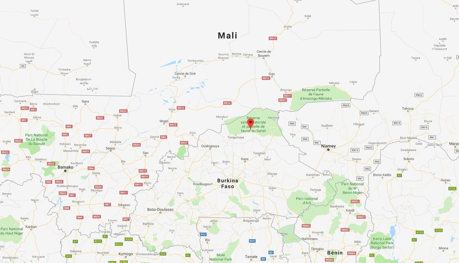 La ville d'Arbinda, dans le nord du Burkina Faso.