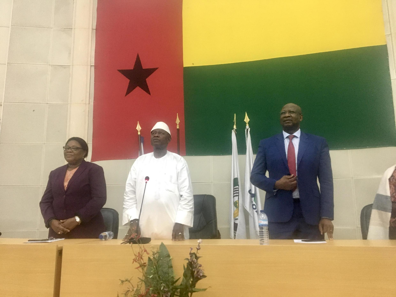 Cipriano Cassamá, na foto ainda Presidente interino da Guiné Bissau, acaba de renunciar ao cargo