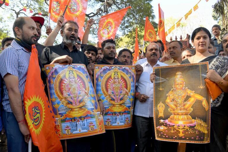 Индуисты-консерваторы протестуют против права женщин на посещение храма Айяппана