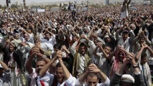 Manifestation contre le pouvoir, à Sanaa, le 10 juin 2011.