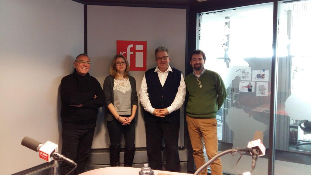 De g. à d. : Daniel Desesquelle, Nele Katharina Wissmann, Christian Lequesne et Nicu Popescu.