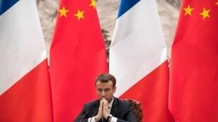法國總統馬克龍去年元月訪問北京