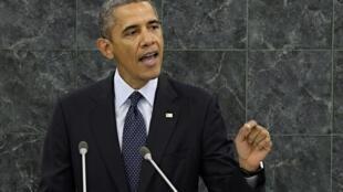 Rais wa Marekani, Barack Obama akihutubia mkutano wa 68 wa UN jijini New York