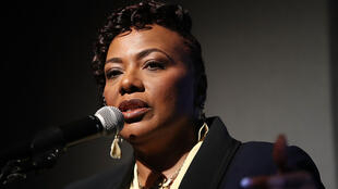 Bernice King, la fille de Martin Luther King, au Musée national des droits civiques, à l'occasion de la préparation des cérémonies du 50e anniversaire de l'assassinat de son père, à Memphis, le 2 avril 2018.