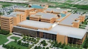 Le centre médical militaire Brooke, à San Antonio (Texas), aux Etats-Unis.