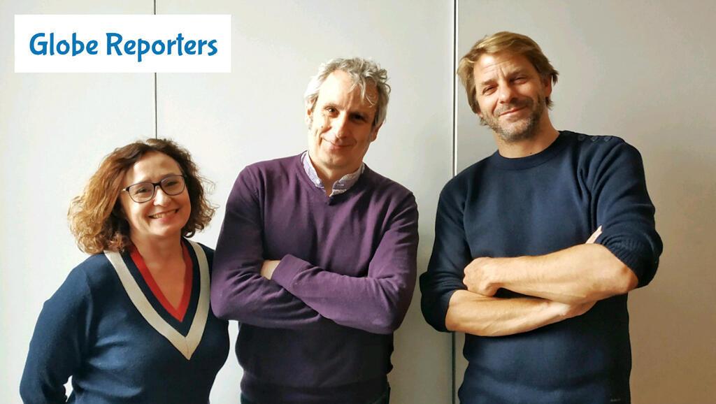 La professeure de français Fabienne Robert, le cofondateur de Globe Reporters Alain Devalpo et le journaliste indépendant Raphaël Krafft.
