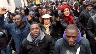 Quelque 80000 Maliens en France sont inscrits sur le fichier électoral. Ici, lors d'une manifestation pour la libération du nord du Mali, à Montreuil, en janvier 2013.