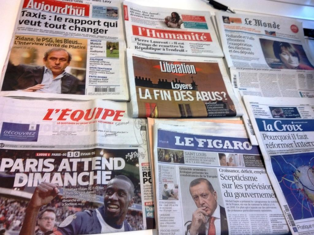 Diários franceses 24/04/2014