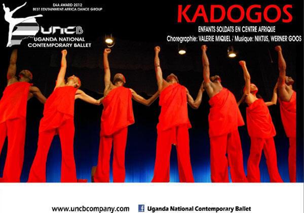 L'affiche du spectacle «Kadogo» du Ballet national contemporain de l'Ouganda.