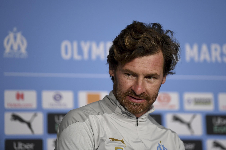L'entraîneur portugais de l'Olympique de Marseille, Andre Villas Boas, lors d'une conférence de presse le 29 septembre 2020 à Marseille
