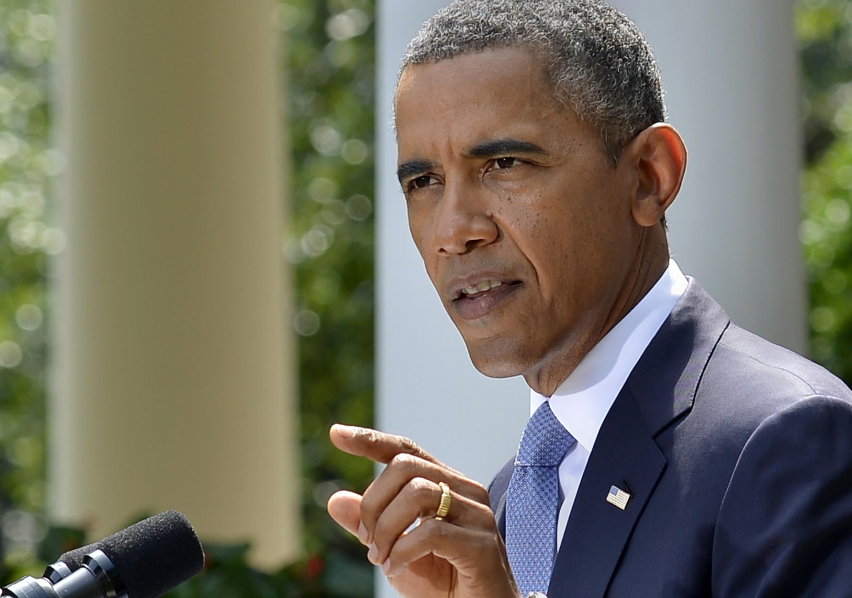 O presidente Barack Obama nos jardins da Casa Branca durante anúncio de sua decisão de atacar Síria.