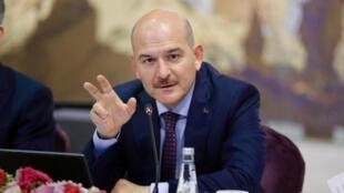 Le ministre turc de l'Intérieur, Suleyman Soylu, a annoncé dimanche soir sa démission. (Ici, a à Istanbul, le 21 août 2019.)