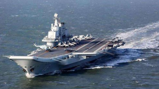 """中国第一艘国产航空母舰""""山东""""号资料图片"""
