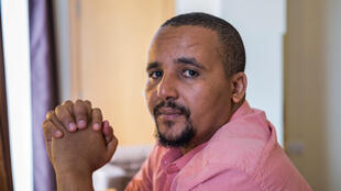 Oromo activist Jawar Mohammed, pictured during an interview with AFP in Addis Ababa in September 2018