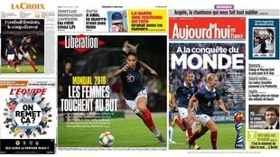 A abertura da Copa do Mundo Feminina de Futebol é machete da imprensa francesa desta sexta-feira, 7 de junho de 2019.