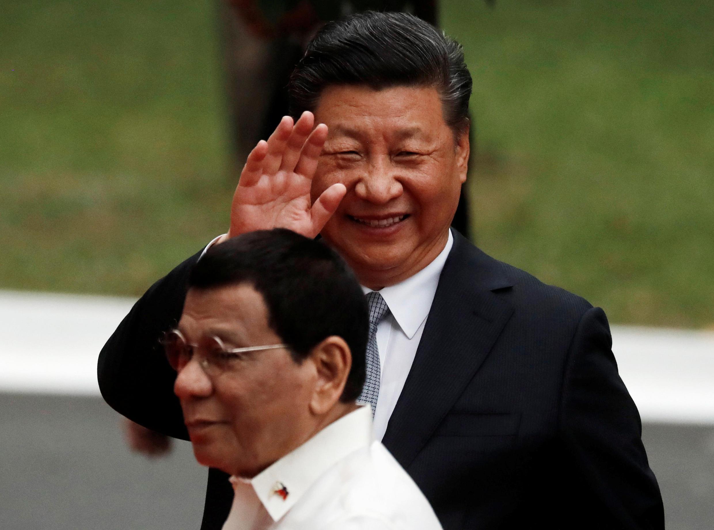 圖為中國國家主席習近平2018年11月20日訪問菲律賓