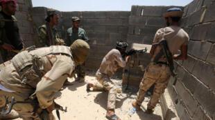 Les forces gouvernementales, le 2 juin 2016, lors de l'offensive pour reprendre Fallouja aux mains du groupe EI.