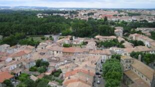 法国南部中世纪古城卡尔卡松。