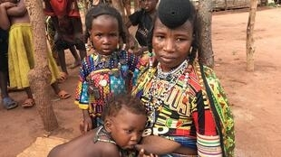Reke, 20, refugee from Bouda, CAR with her children. Two of her children died while fleeing to the safety of Chad