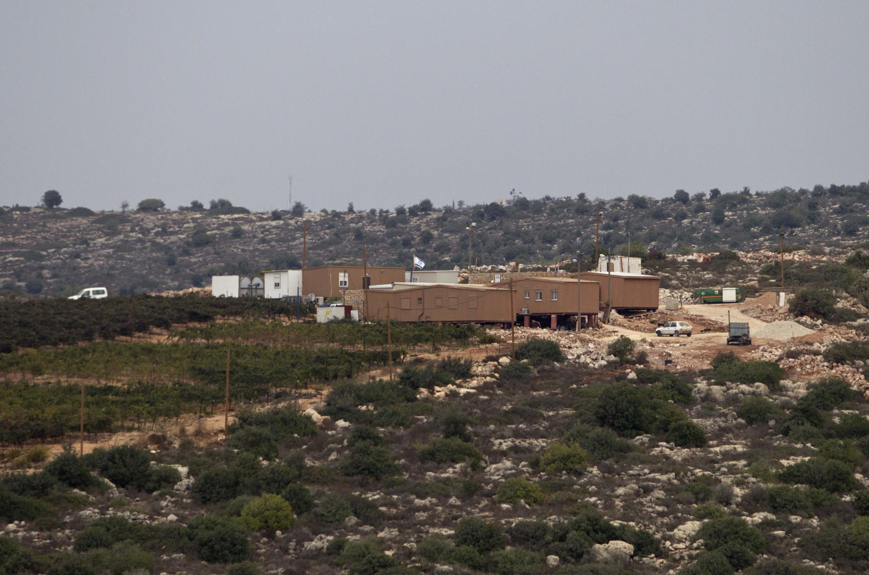 Unauthorised settler outpost outside the settlement of Talmon, near Ramallah, 31 October, 2012