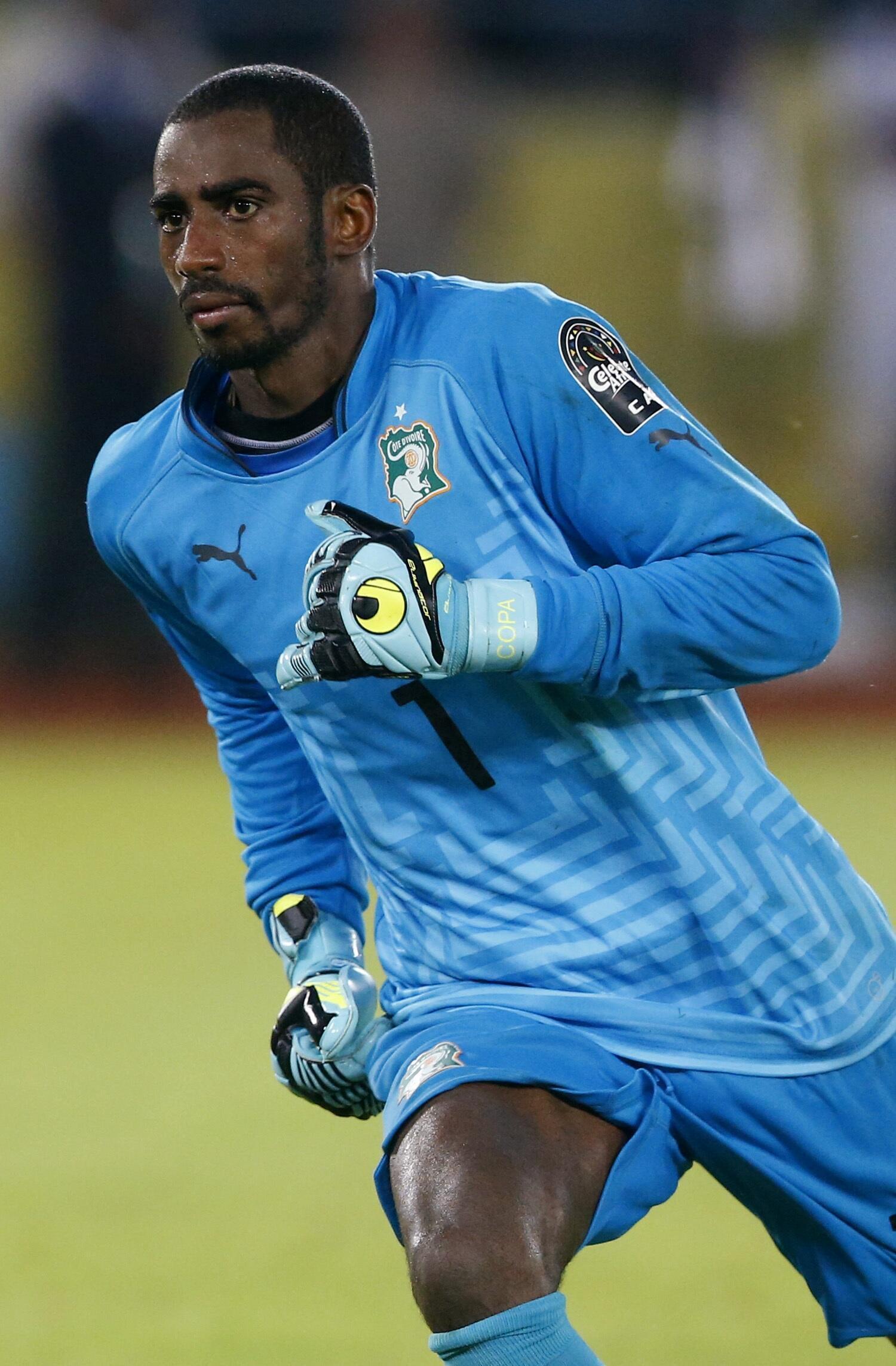 Le gardien de but ivoirien Copa Barry.