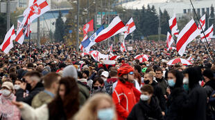 Belarusian security forces cracked down on Sunday's demonstrations