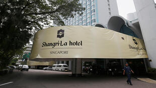 Le dialogue Shangri-La se tient dans l'hôtel du même nom, à Singapour, début juin 2018.