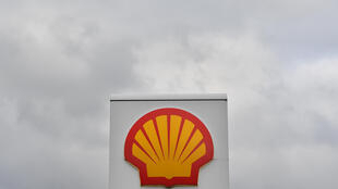 El logotipo del gigante petrolero Royal Dutch Shell, en una gasolinera de Londres el 30 de enero de 2018