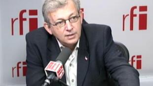 Pierre Laurent, secrétaire national du Parti communiste, président du comité de campagne de Jean-Luc Mélenchon.