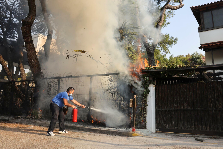 Grécia incêndio