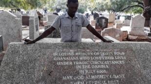 Martin Kyere, un Ghanéen de 38 ans, seul survivant du massacre de 56 migrants en Gambie en juillet 2005.