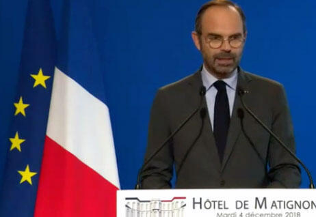 French PM Edouard Philippe announced on Tuesday that the French government was suspending a proposed fuel tax for six months.