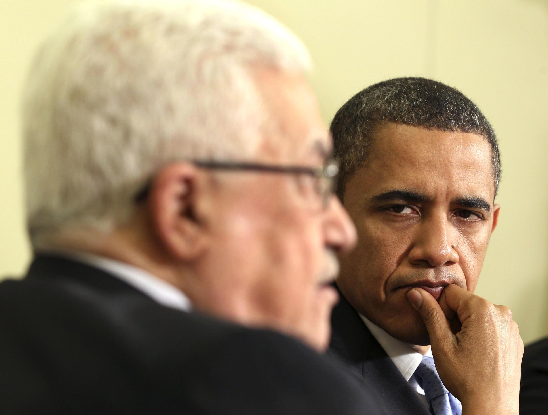 Махмуд Аббас и Барак Обама на встрече в Белом доме 9 июня 2010 г.