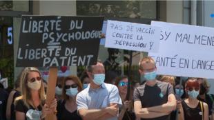 Protesto psicólogos
