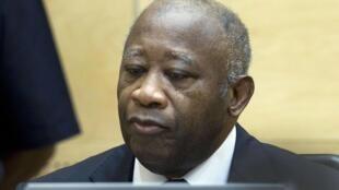 Rais wa zamani wa Cote D' Ivoire Laurent Gbagbo akiwa katika mahakama ya ICC