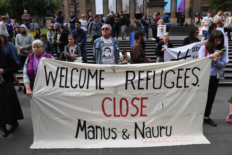 تظاهرات در حمایت از پناهجویان در ملبورن