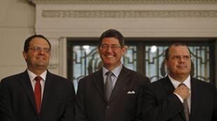 Em Washington, os ministros Nelson Barbosa, do Planejamento, Joaquim Levy, da Fazenda, e Alexandre Tombini, presidente do Banco Central, tentam reaproximar o Brasil e os Estados Unidos..