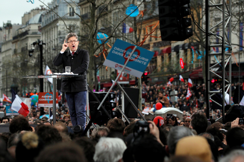 همایش انتخاباتی ژان لوک ملانشون