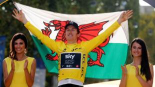 Британский велогонщик Томас Герайнт, победитель Тур де Франс–2018