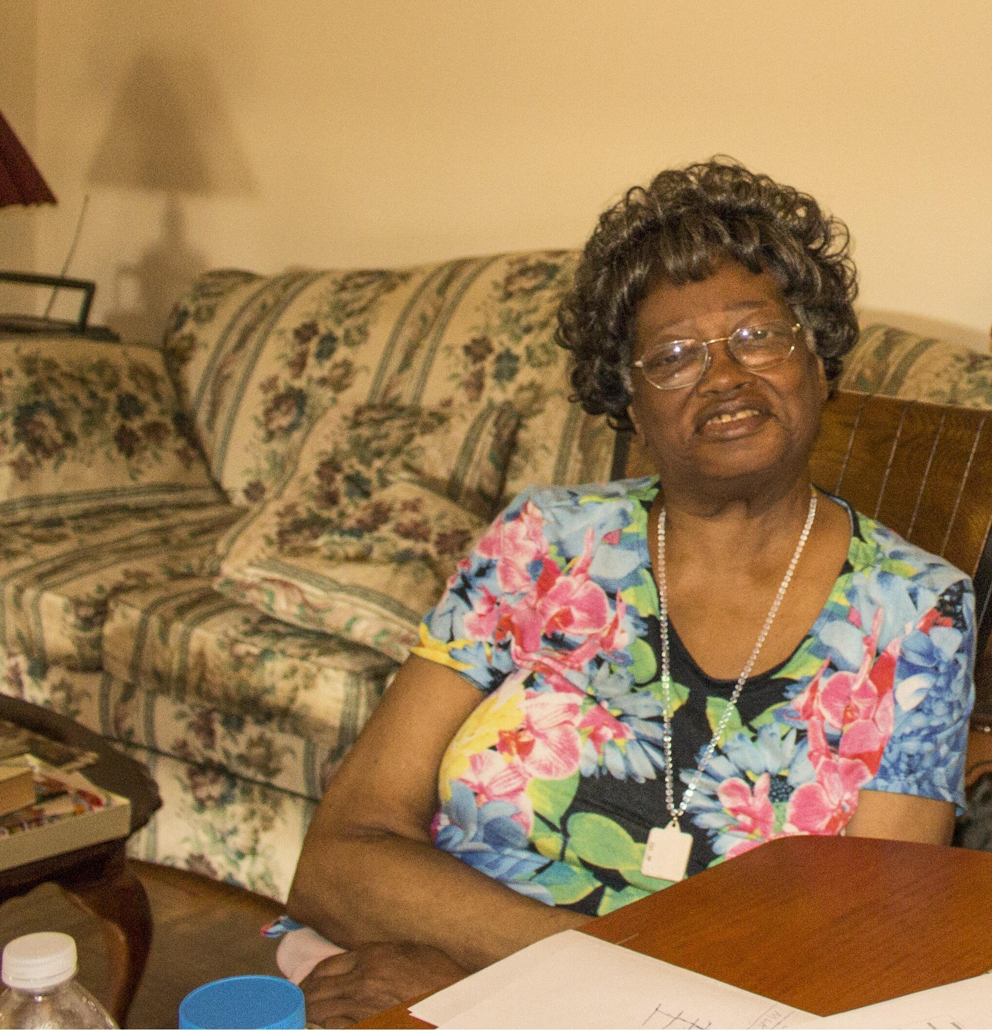 Claudette Colvin seated in her home, Bronx, New York