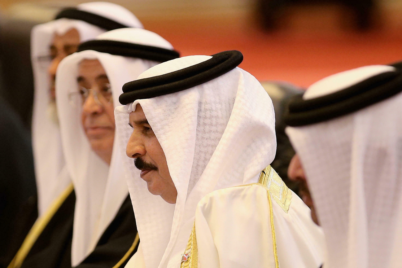 Hamed ben Issa al-Khalifa, Mfalme wa Bahrain picha ilipigwa mwaka 2013 Beijing.