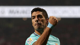 Luis Suarez scored Barcelona's equaliser in the closing stages of the match at Atletico Madrid.