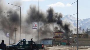 L'un des sites touchés ce 1er mars à Kaboul.