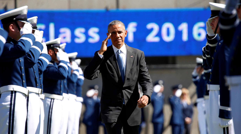 Tổng thống Barack Obama tham dự một buổi lễ của Học viện Không Quân Hoa Kỳ, tại Colorado Springs, ngày 02/06/2016.