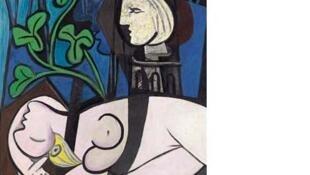 """""""Desnudo, hojas verdes y busto""""  de Picasso (1932)"""