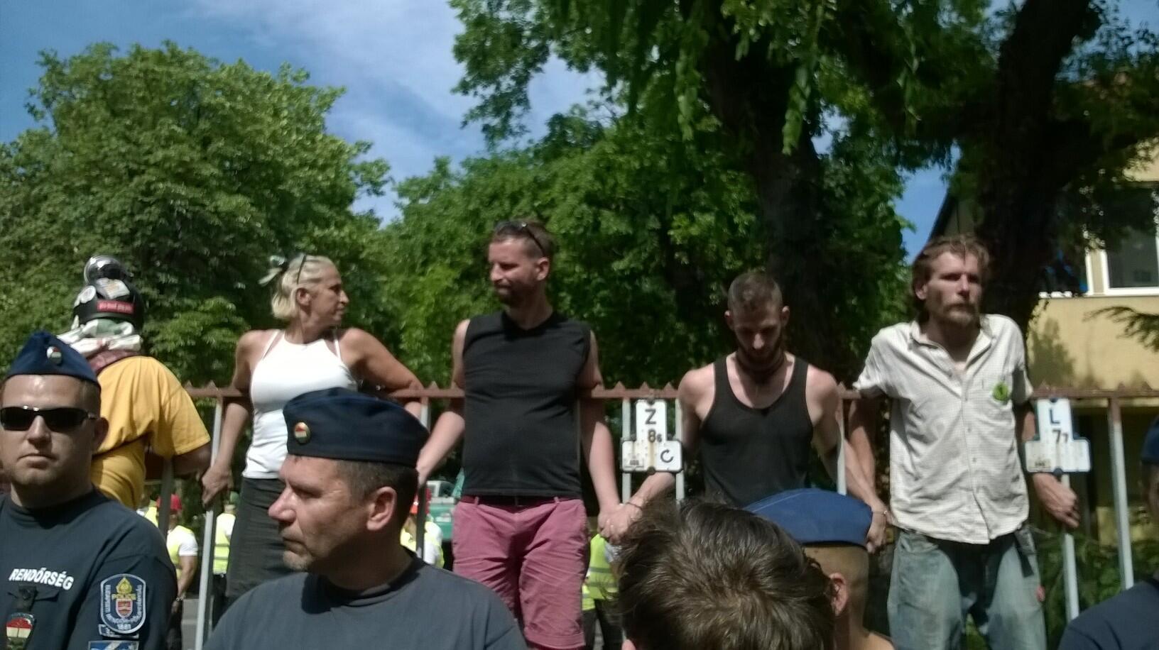 Manifestation du 6 juillet 2016 pour défendre le Varosliget, le «bois de la ville».